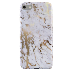 Marmer Hoesje White&Gold iPhone 6 / 6s