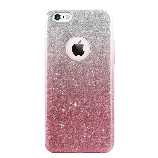 Glitter Hoesje Roze iPhone 7 Plus
