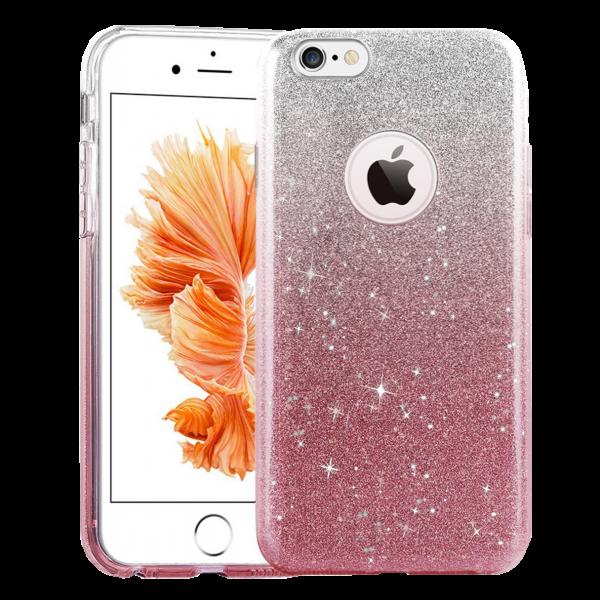 Glitter Hoesje Roze iPhone 7
