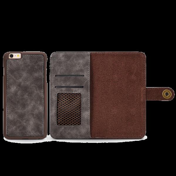 Boek Hoesje Deluxe Grijs iPhone 6 Plus / 6s Plus