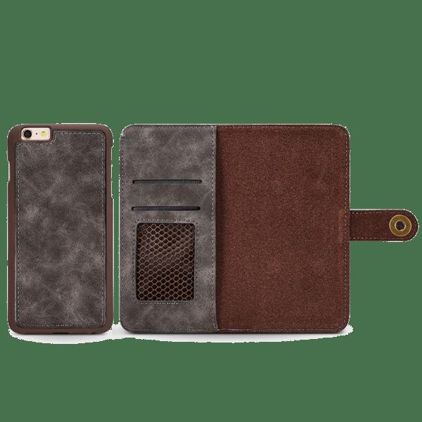 Boek Hoesje Deluxe Grijs iPhone 7