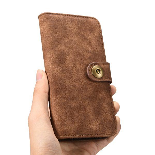 Boek Hoesje Deluxe Bruin iPhone 7 Plus