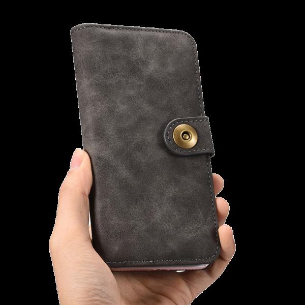 Boek Hoesje Deluxe Grijs Galaxy S7