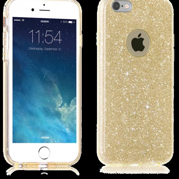Glitter Hoesje Goud iPhone 6 / 6s
