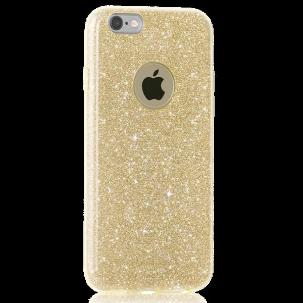 Glitter Hoesje Goud iPhone 7