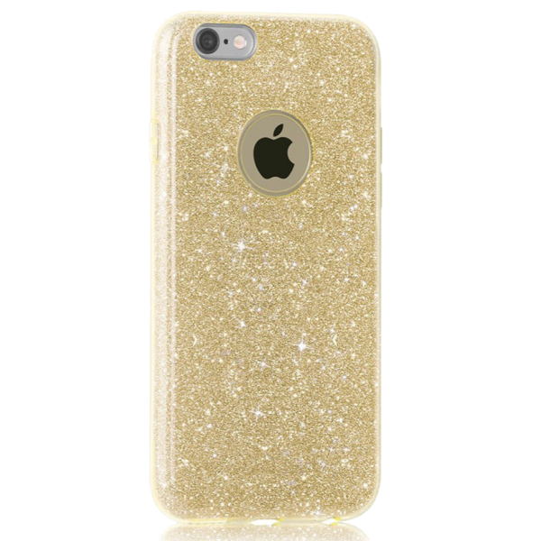 Glitter Hoesje Goud iPhone 7 Plus