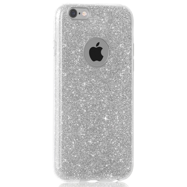 Glitter Hoesje Zilver iPhone 7 Plus