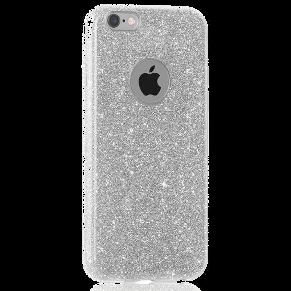 Glitter Hoesje Zilver iPhone 6 / 6s